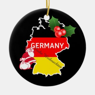 Christmas With German Map,Flag, and Santa