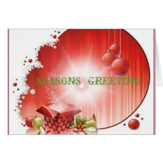christmas with-gift-box- greeting cards