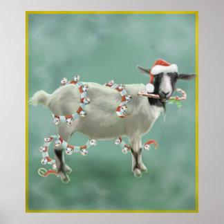 Christmas With Jada The Goat Print