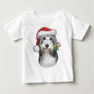 Christmas With Jazz The Bearded Collie Baby T-Shirt