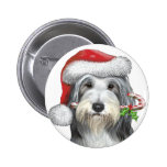 Christmas With Jazz The Bearded Collie Pin