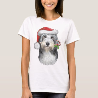 Christmas With Jazz The Bearded Collie T-Shirt
