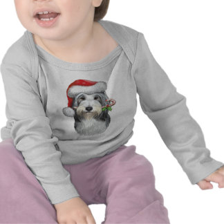 Christmas With Jazz The Bearded Collie Tshirts