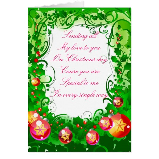 Christmas with love card
