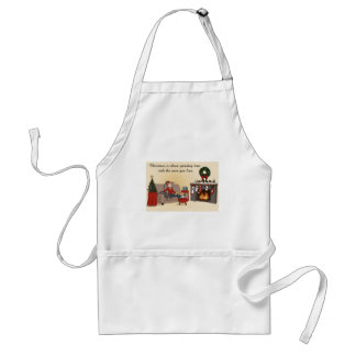 Christmas with Loved Ones Cartoony Apron