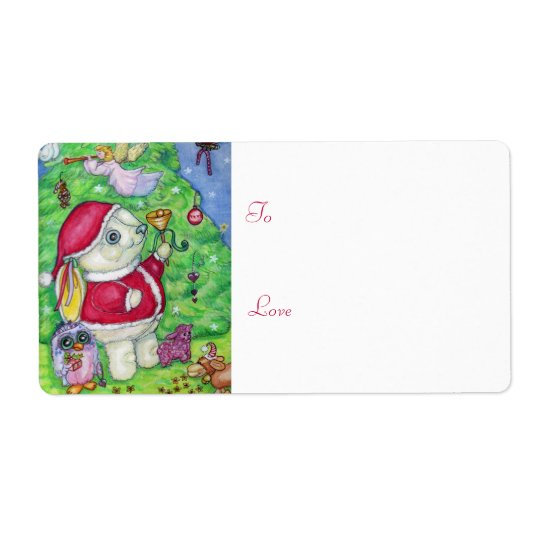 Christmas with Pookie - Gift tag