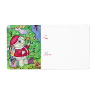 Christmas with Pookie - Gift tag Personalized Shipping Label