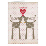 Christmas with Reindeers Greeting Cards