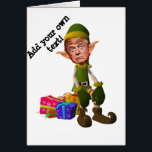 """Christmas with the Trump imp Card<br><div class=""""desc"""">Personalize your chart by adding the text and the prime coat of your choice to this funny design of the festivals of end of the year: There is a new imp of the Father Christmas this year, the imp Donald Trump: caricature of Trump as an imp with large ears sitting...</div>"""