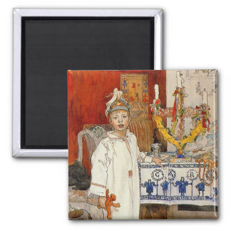 Christmas with Ulf 1894 2 Inch Square Magnet