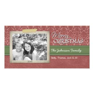 Christmas - with vintage photo border - card