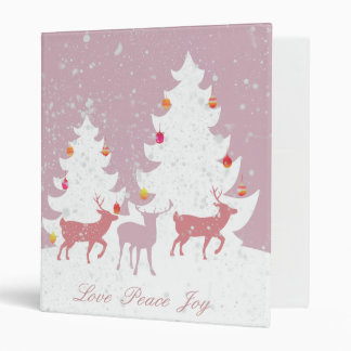 Christmas Woodland 3 Ring Binder
