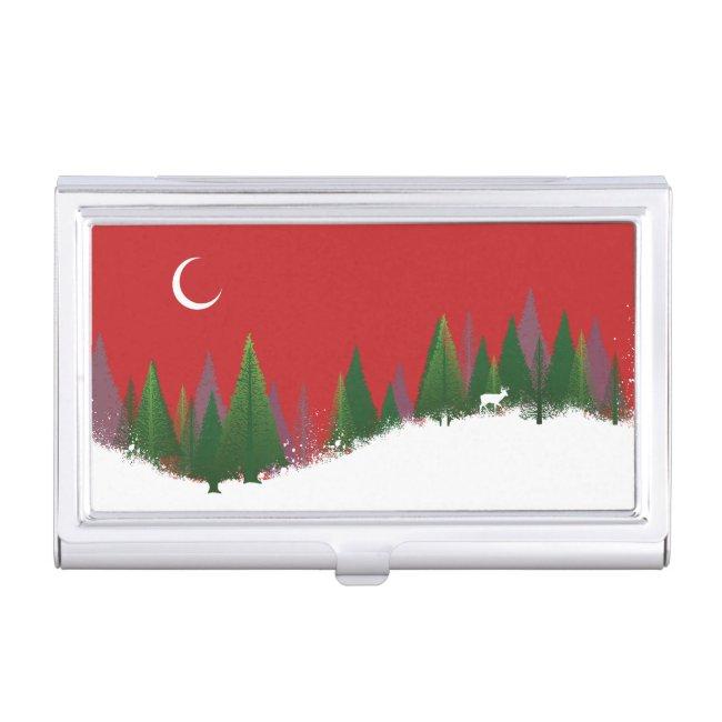 Christmas Woods Scene
