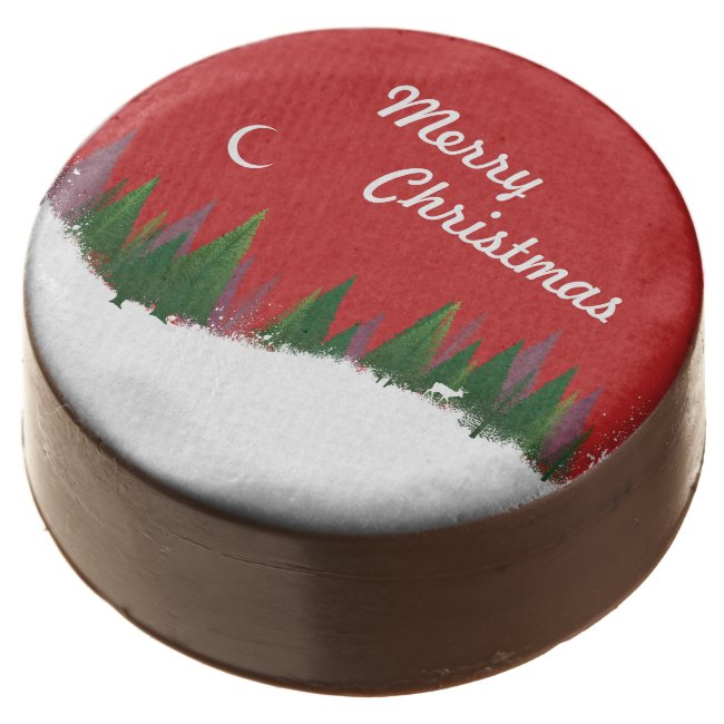 Christmas Woods Scene Oreo Cookies