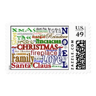 Christmas Word-Art - Postage