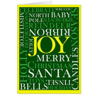 Christmas word card