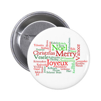 Christmas Word Cloud 2 Inch Round Button