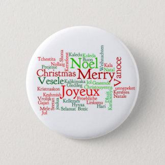 Christmas Word Cloud Button