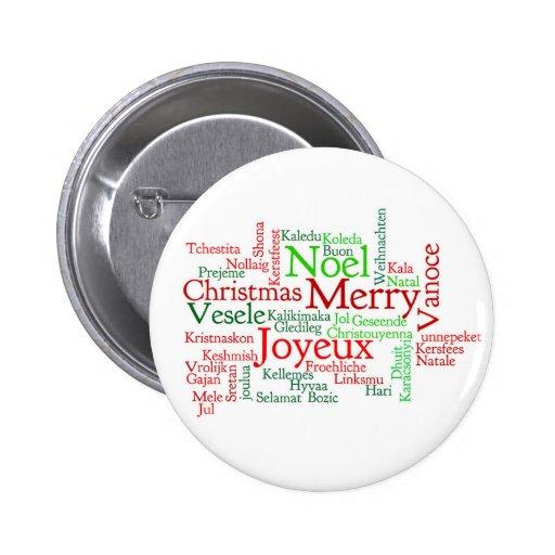Christmas Word Cloud Pin