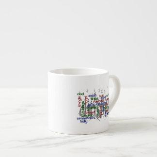 Christmas Word Cloud Espresso Cup