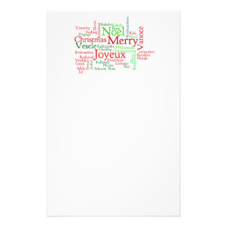 Christmas Word Cloud Customized Stationery