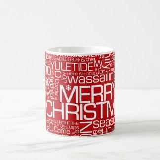 Christmas Word Collage Mugs
