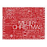 Christmas Word Collage Postcard