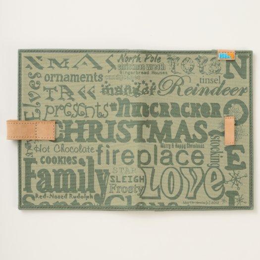 Christmas WordArt™ Canvas Journal