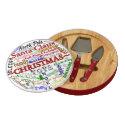 Christmas WordArt Cheese Board