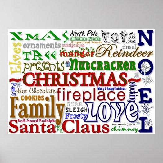 Christmas WordArt™ Poster