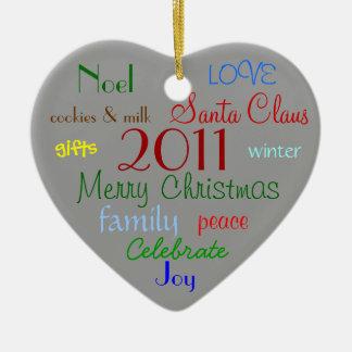 Christmas Words Ornament