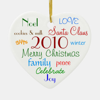 Christmas Words Ornament