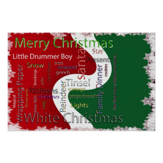 Christmas words Related Text Poster