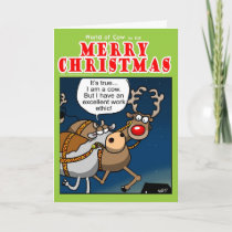 Christmas Work ethic Holiday Card