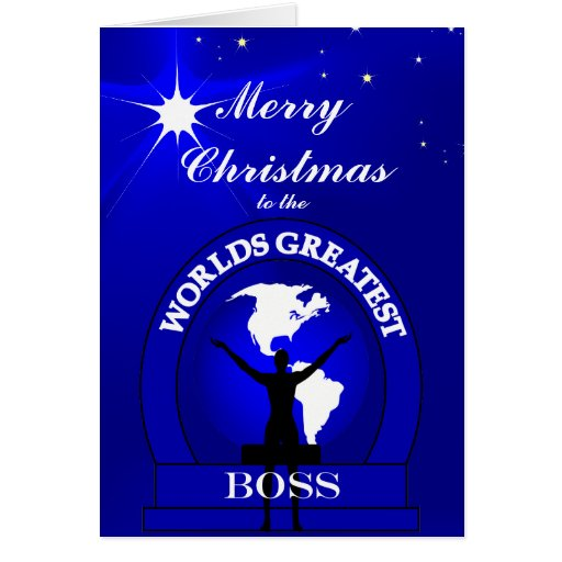Christmas Worlds Greatest Boss Greeting Greeting Cards
