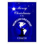 Christmas Worlds Greatest Coach Greeting Greeting Cards