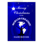 Christmas Worlds Greatest Hairdresser Greeting Greeting Cards
