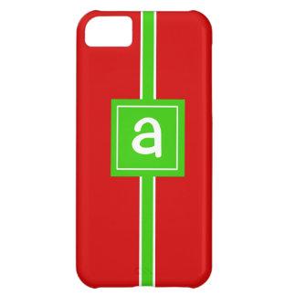 Christmas Wrap Custom Monogram Initial Phone Case iPhone 5C Cases