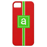 Christmas Wrap Custom Monogram Initial Phone Case