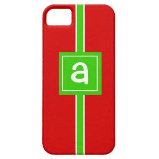 Christmas Wrap Custom Monogram Initial Phone Case iPhone 5 Covers