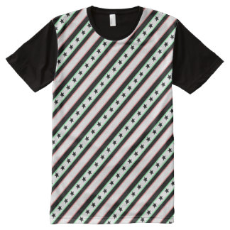 Christmas Wrapped Stars and Stripes Pattern All-Over Print Shirt