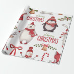 "Christmas Wrapping Paper<br><div class=""desc"">A fun Christmas print wrapping paper,  be sure to check out the matching stickers and add ons!</div>"