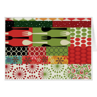Christmas Wrapping Paper 3 Seasons Card