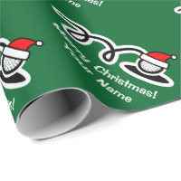 Christmas wrapping paper | Santa hat golf ball