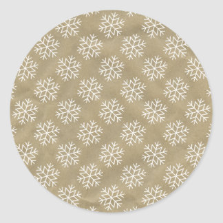 Christmas Wrapping Stickers Snowflakes