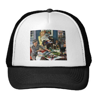 Christmas Wrapping Trucker Hat