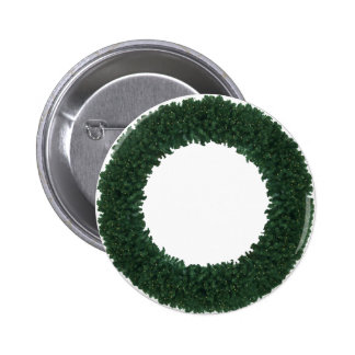 CHRISTMAS WREATH 1b ~ 2 Inch Round Button