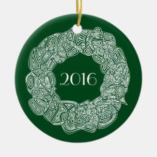 Christmas Wreath 2016 Ceramic Ornament