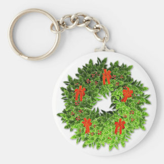 Christmas Wreath 2 Key Chain