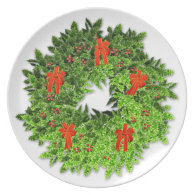 Christmas Wreath 2 Party Plate